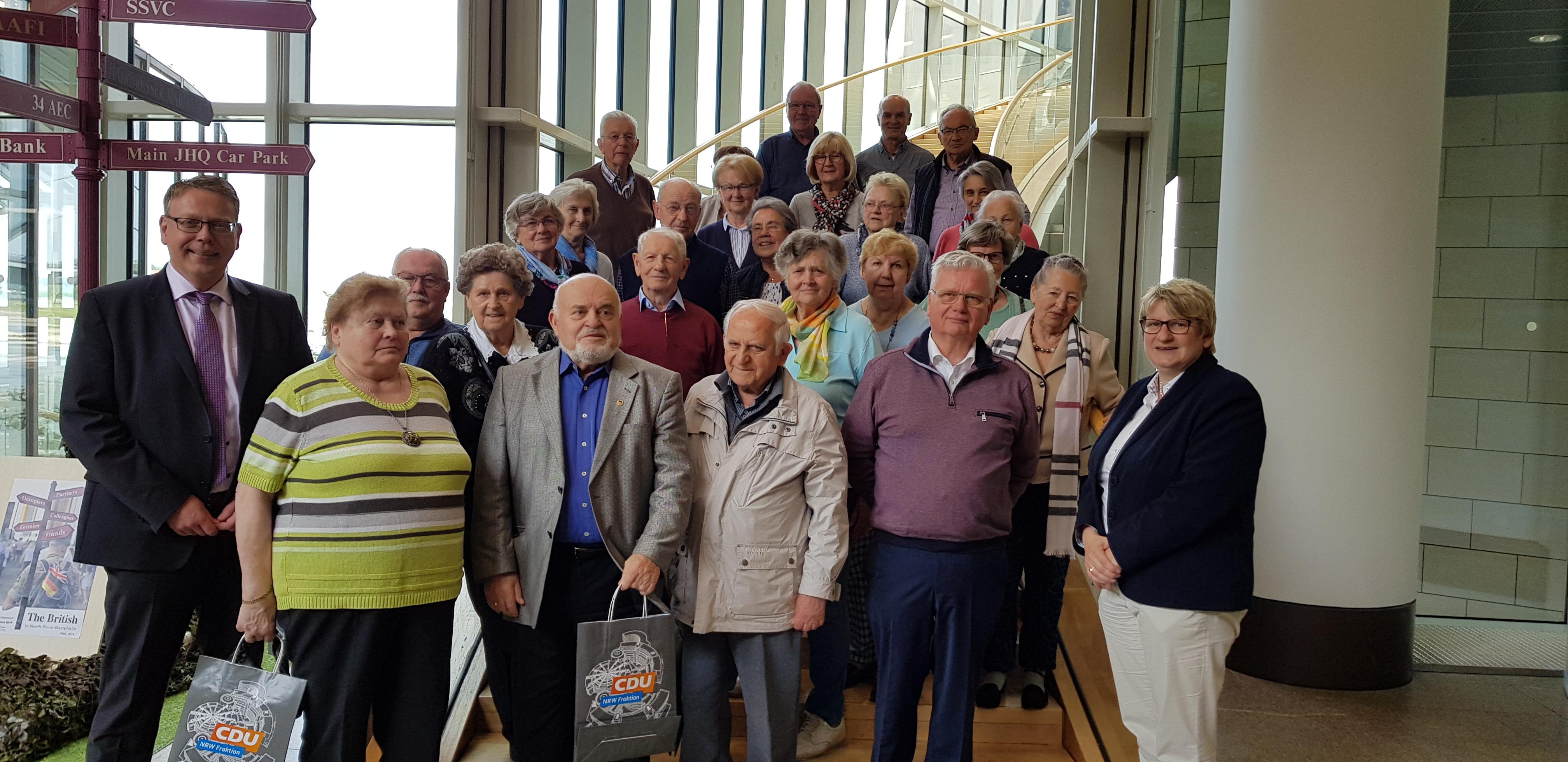 Landtagsbesuch der Sudetendeutschen Landsmannschaft aus Krefeld